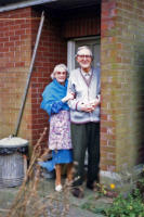 Mr and Mrs Phillippo at Almshouses, Castle Hill Road, New Buckenham