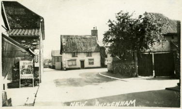 Foxes shop on left, post office on right