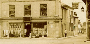 Shop on south side of Market Place before fire of 1906 (detail)