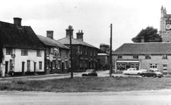 North west corner of Market Place showing Smith's petrol sales