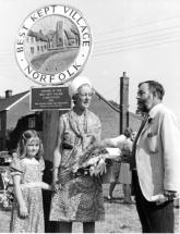 Best Kept Village 1975.  Lady Bacon, Wendy Cole-Wilkin and Dr Hamerton
