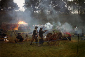 Civil War Society reinactment at Buckenham Castle